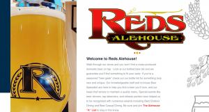 North Liberty Web Design   Reds Alehouse