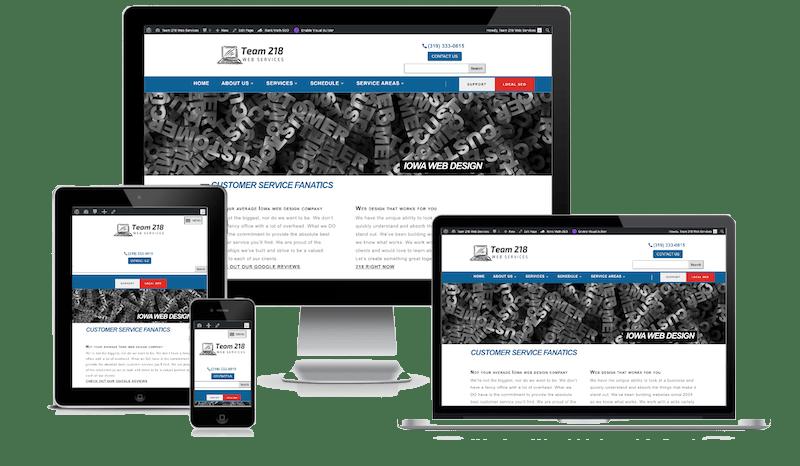 Responsive Web Design - Team 218 Web Services
