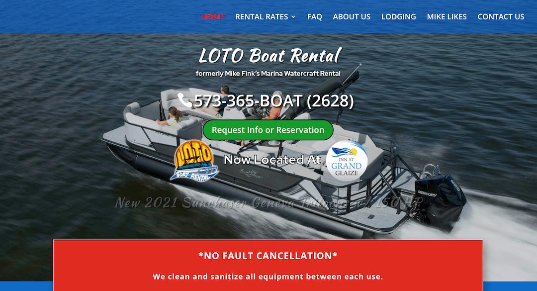 LOTO Boat Rental Screen Shot