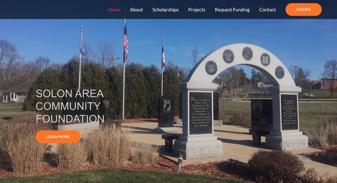 Solon, IA Website Launch – Solon Area Community Foundation