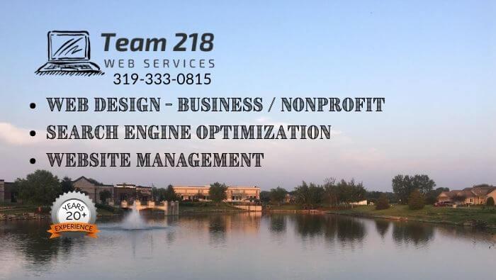Web Design, SEO, Website Management Team 218 Web Services