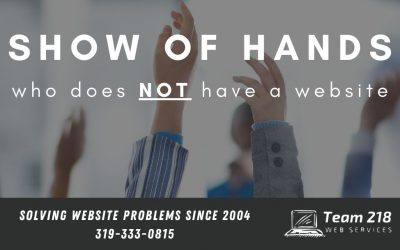 Show of Hands, Who Does NOT Have a Website